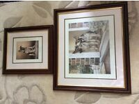 Nigel Hemmings signed prints Home Guard and Young Winston in wooden frames