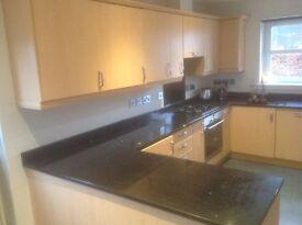 Kitchen units, integrated kitchen with fridge freezer, quartz worktop, washing machine, cooker