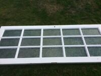 Free internal door with glass panels