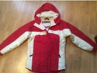 Girls Ski Jacket Dare2Be Age 9 - 10 years, height 140 cm, red and white