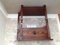 Small solid oak vintage hall table