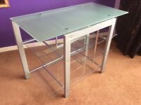 Tempered Glass desk table workstation PC