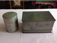 Two pieces of unusually rare 19th century Chinese pewter