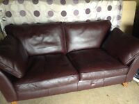 Fabulous brown leather sofa - hardly used, perfect condition