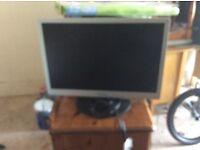 2 monitors and 2 computer towers