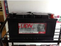 LION BATTERY. 100Ah WITH 4 YEARS GUARANTEE. £80.