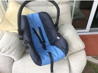 Blue baby car seat/ baby carrier