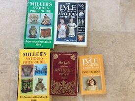 Five Antique collectors books
