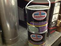 Sendtex 2.5 ltr tins of Bay tree exterior paint