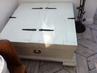This is a very very heavy storage box and coffee table