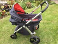 Mountain Buggy front or rear facing bassinet/buggy