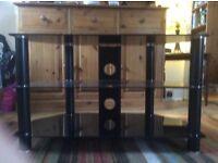 Smart Black 3 tier TV/DVD ETC Stand .