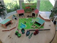 Children's Play Farm with added accessories inc. animals, farm equipment and farmer