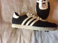 Gents/Ladies size 8 Adidas Samba lightweight golf shoes