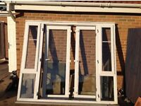 White Upvc Patio doors