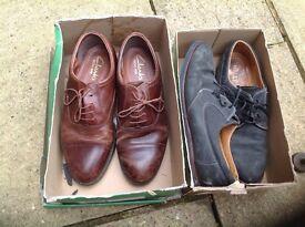 Smart brown shoes & Blue suede Shoes