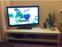 Ikea white tv bench Lack