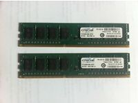 PC RAM__2 x Crucial CT51264BA160BJ.C8F (4 GB, DDR3 SDRAM, 1600 MHz, DIMM 240-pin) RAM