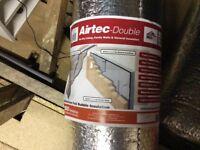 2 rolls of air tec double aluminium foil bubble insulation
