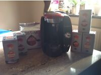 Tassimo coffee machine in red