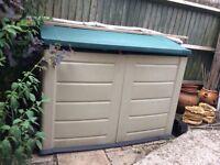Large plastic garden storage box ideal for garden furniture