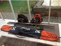 K2 Ski's with Look HP 99 bindings, Salomon ski bag and boot bag etc.