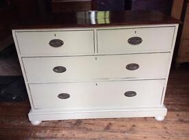 Painted old chest of drawers
