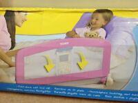 Fold down soft bed rail