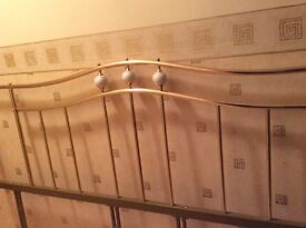Super king size brass headboard