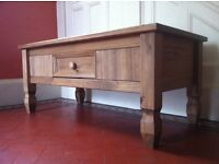Antique Pine Solid Wood Coffee Table / Can Deliver