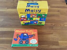 Maisy floor puzzle and book
