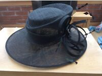 Black wedding / occasion hat in excellent condition as never worn