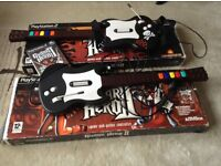 Guitar Hero 2 Game and 2 Guitars for PS2