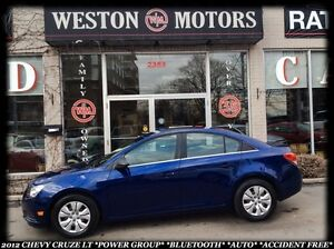 2012 Chevrolet Cruze LT *POWER GROUP *BLUETOOTH *AUTO *ACCIDENT