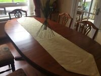 Ducal Rosedale Dining Table 6 Chairs, Sideboard & Mirror