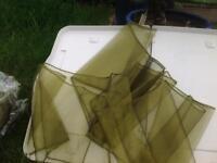 Wedding olive/ gold organza chair sashes