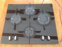 Used Hotpoint Luce GX641FGK Gas on Glass Hob in Black
