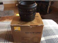 Nikon nikkor 50mm lens