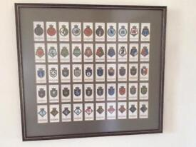 Framed Cigarette Cards of Ships' Badges and their Mottoes