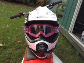 Girls motocross helmet