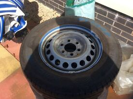VW CRAFTER MECEDES WHEEL AND TYRES