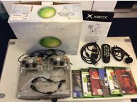 XBOX CRISTAL LIMITED EDITION IN EXCELLENT WORKING CONDITION BARGAIN !!!
