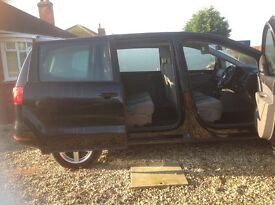 Seat Alhambra 2011 Automatic. 7 Seater Black. Low mileage 56000. Excellent condition.