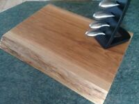 Oak chopping board , handmade waney edge