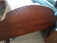 Solid Wood headboard to fit double or king size bed. In very good condition.