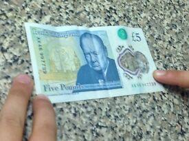 Ak46 new five pound note.