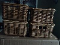 Ikea wicker baskets.
