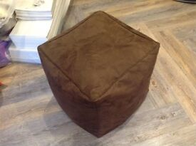 Faux suede brown cube