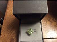 Peridot Stirling silver ring