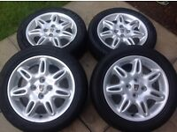 Alloy wheels and tyres. Rover 25 200 45 400 mg zr zs 185 55 15 tyres